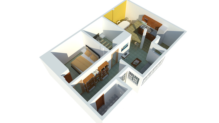 Perspectiva Casas de estilo moderno de Ingenieros y Arquitectos Continentes Moderno