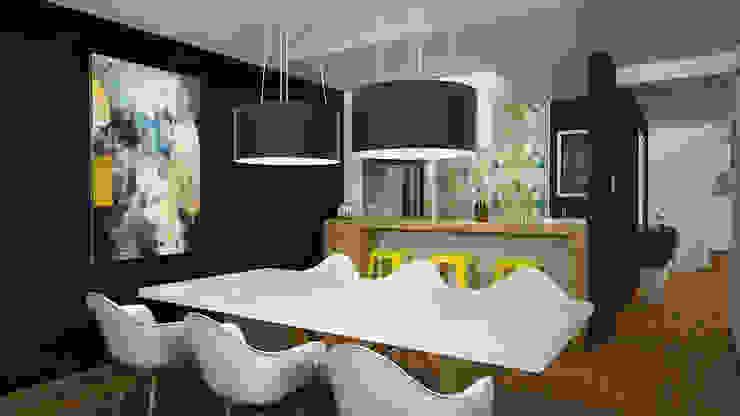 Kuro Design Studio Sala da pranzo in stile scandinavo