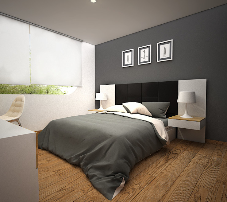 Kuro Design Studio Scandinavian style bedroom