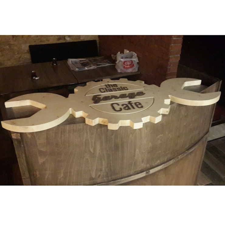 Deco Wood Butik Tasarım Atölyesi – Garage cafe kasa bankosü: modern tarz , Modern Ahşap Ahşap rengi