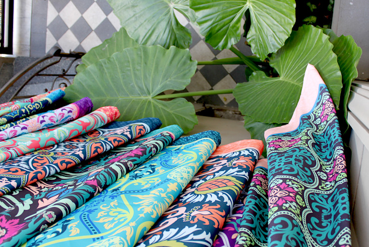 Manteles Colección 2016 de b-home Asiático Textil Ámbar/Dorado