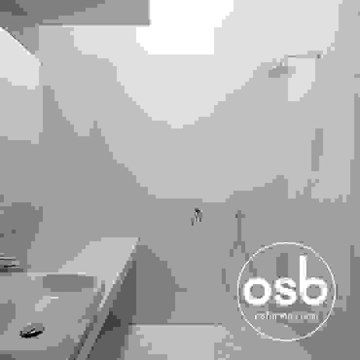Casas de banho modernas por osb arquitectos Moderno Azulejo