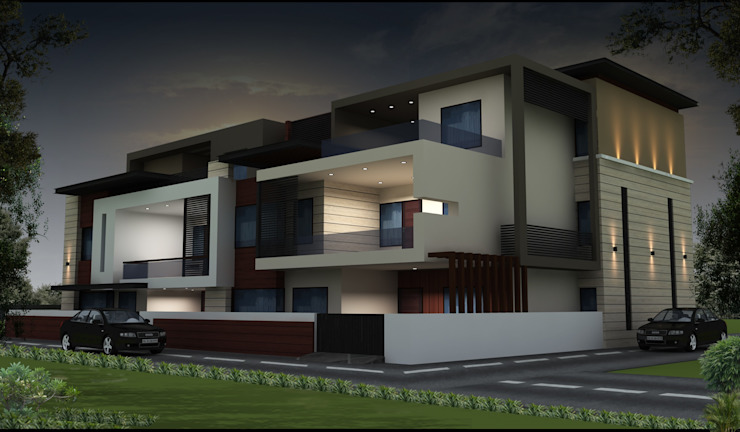 ELEVATION Asian style houses by RIDDEN INTERIO Asian