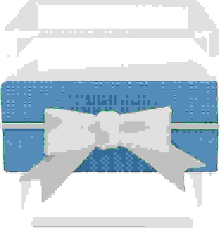 SMALL MULTI-USE BOX WITH RIBBON BLUE/GREY por Manuela Bento Decor Moderno Plástico