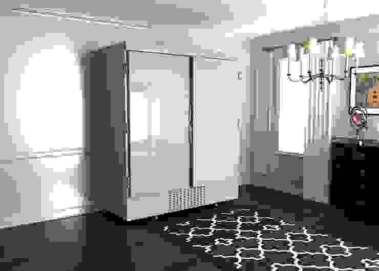 Шубный холодильник в белом цвете от Beauty&Cold Средиземноморский Металл