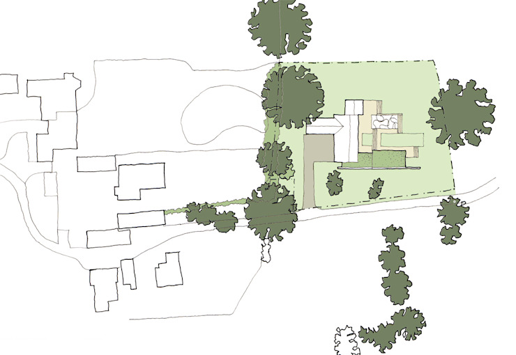 Site Plan Showing Position of New Build Home ArchitectureLIVE