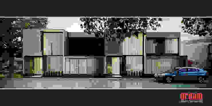 Vista Frontal Casas MLA Casas minimalistas de Estudio Meraki Minimalista Ladrillos