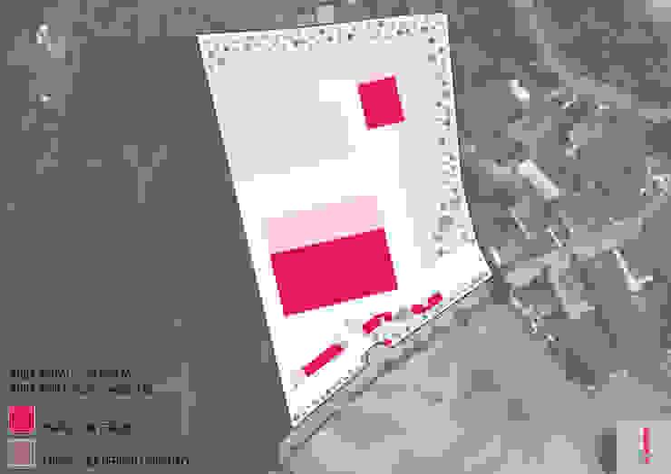 Distribuição do edificado no terreno. por Aurora Fernandes e Helena Alves - Arquitectas Associadas Lda.