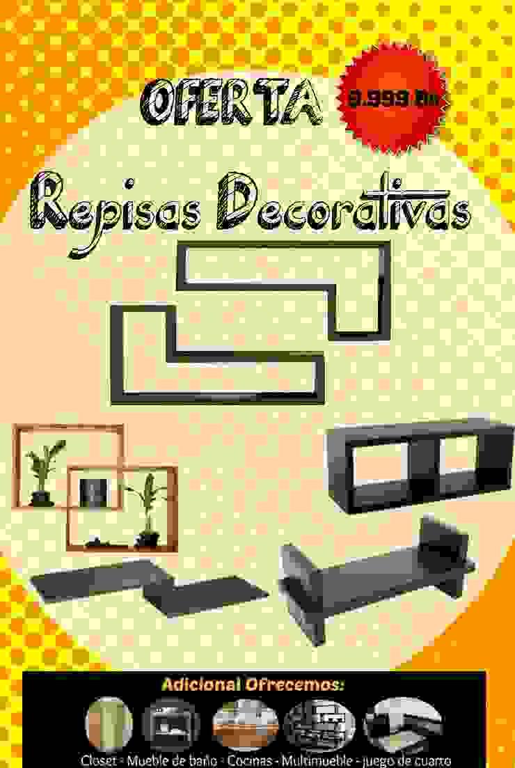 Repisas decorativas!! de Filippo Cucine C.A. Moderno Compuestos de madera y plástico