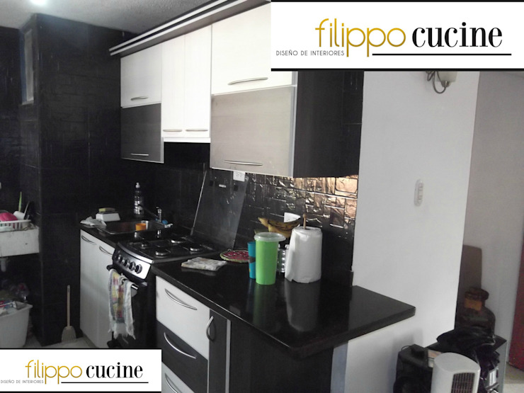 Trabajo realizado - empotrado de cocina de Filippo Cucine C.A. Moderno Madera Acabado en madera