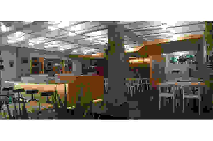 Pacifika Restaurante Espaços de restauração modernos por feedback-studio arquitectos Moderno