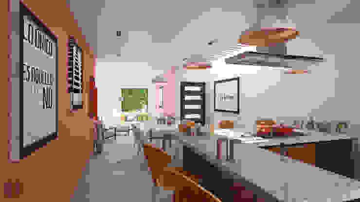 Casa Centenario Cocinas minimalistas de Laboratorio Mexicano de Arquitectura Minimalista Concreto
