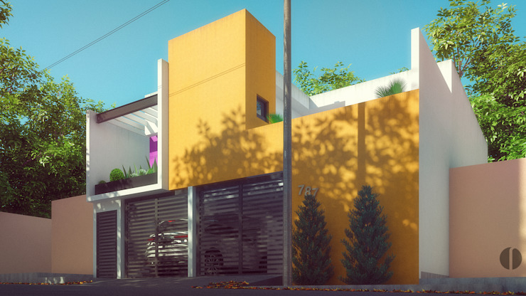 Laboratorio Mexicano de Arquitectura Minimalist houses Concrete Yellow