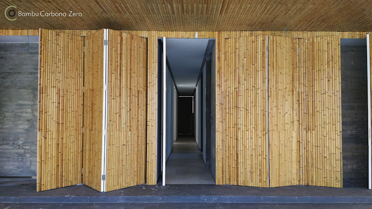 Modern garage/shed by BAMBU CARBONO ZERO Modern Bamboo Green