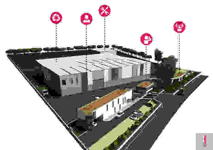 Maqueta virtual do edificado. por Aurora Fernandes e Helena Alves - Arquitectas Associadas Lda.