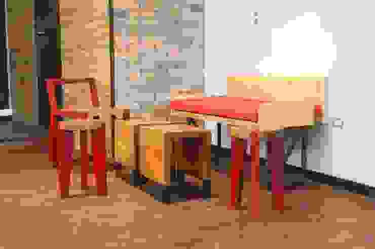 Reformanda - Barra de café Espacios comerciales de estilo industrial de Taller La Semilla Industrial Madera Acabado en madera