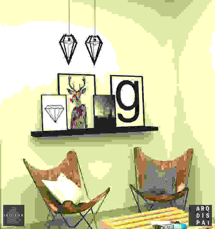 Living Neutro con elementos tipo escandinavos Livings de estilo escandinavo de Arquitecto Ariel Ramírez Escandinavo Derivados de madera Transparente