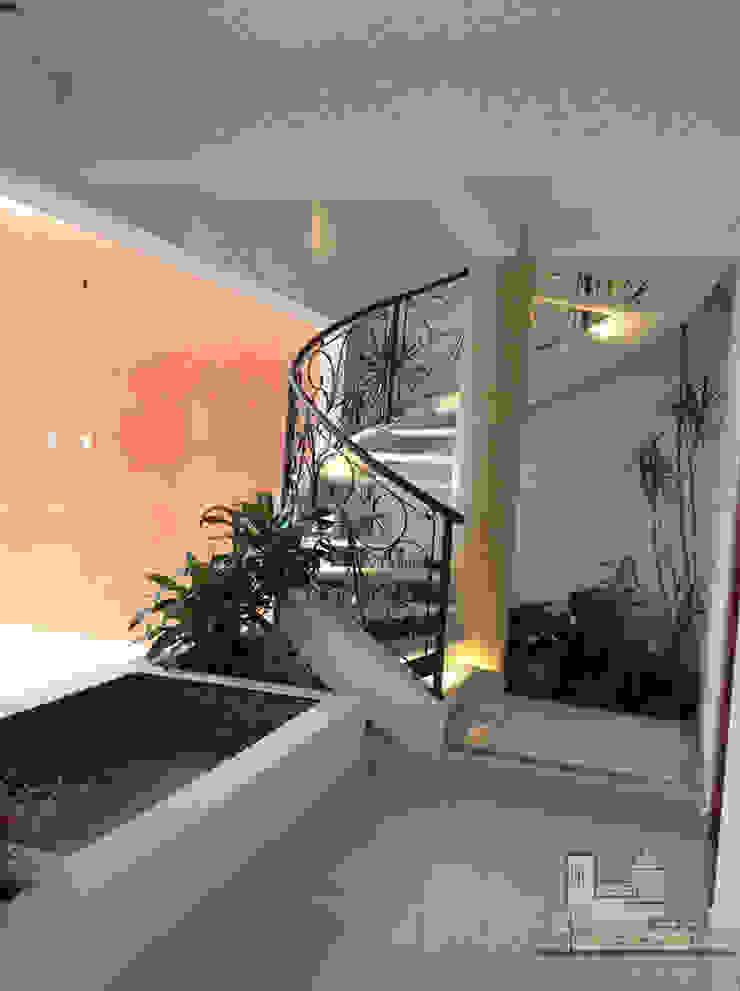 Escalera Pasillos, vestíbulos y escaleras modernos de I.S.T.M.O. CONSTRUCCIONES Moderno Concreto reforzado