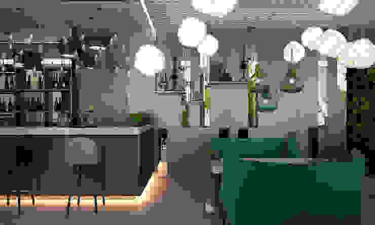 Arredamento e decorazioni della sala da pranzo YOUSUPOVA Pareti & Pavimenti in stile minimalista