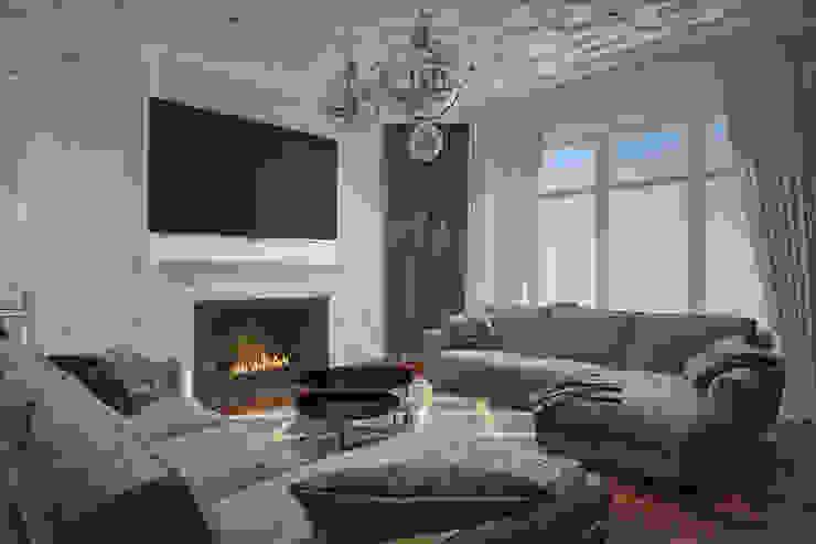 Interior of the living room Salon minimaliste par U-Style design studio Minimaliste