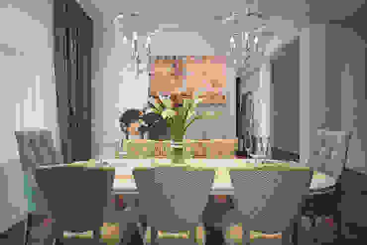 Dining area Salon minimaliste par U-Style design studio Minimaliste