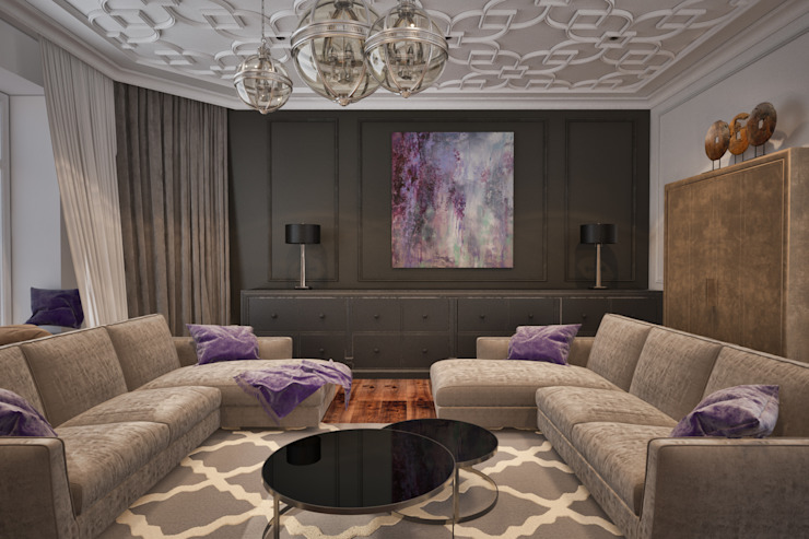 Furniture of the living room Salon minimaliste par U-Style design studio Minimaliste