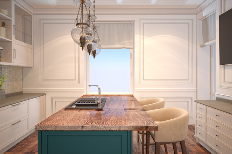 kitchen furniture in minimal style Cuisine minimaliste par U-Style design studio Minimaliste