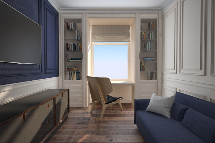 Interior of the bedroom Chambre minimaliste par U-Style design studio Minimaliste