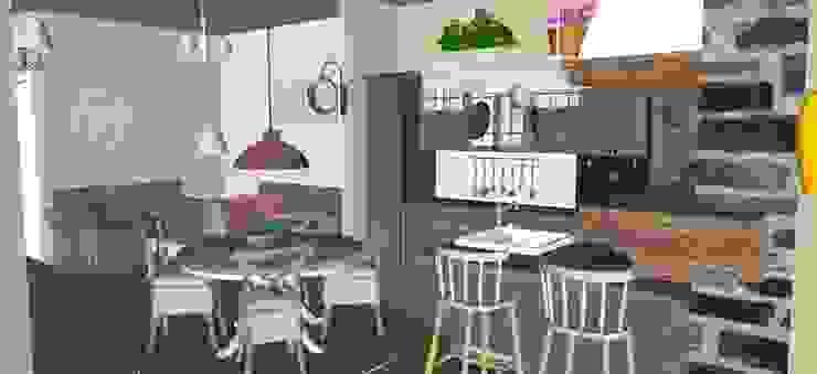 Appartamento Stile Shabby Chic Rustico T_C_Interior_Design___ Cucina in stile rustico