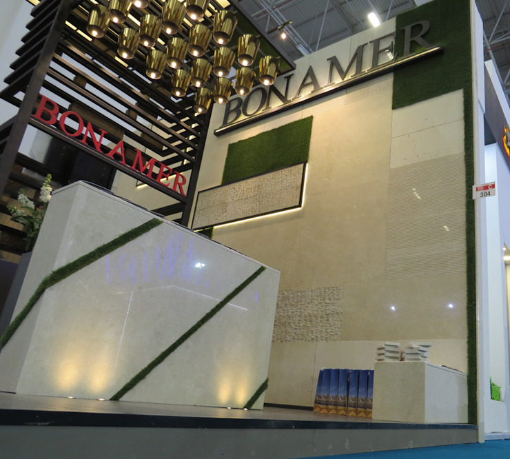 BONAMER FUAR STANDI – IZMIR Modern Duvar & Zemin Mimoza Mimarlık Modern