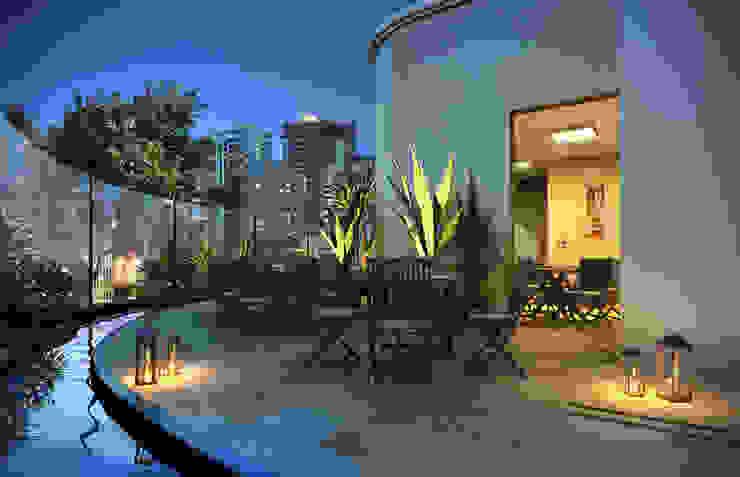Apoio salão de festas Varandas, alpendres e terraços modernos por Felipe Mascarenhas Paisagismo Moderno