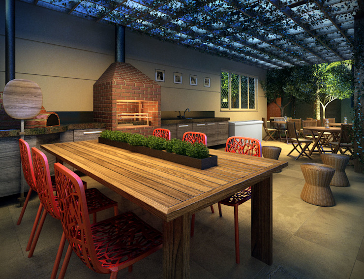 Modern style kitchen by Felipe Mascarenhas Paisagismo Modern