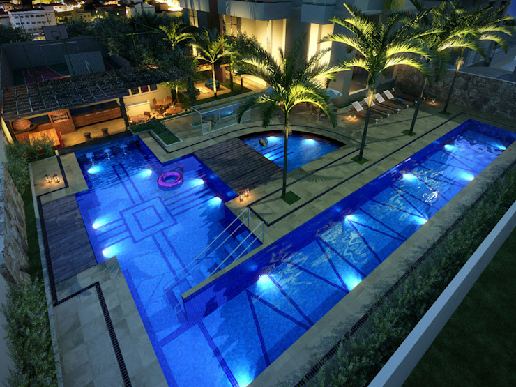 Felipe Mascarenhas Paisagismo Moderne Pools