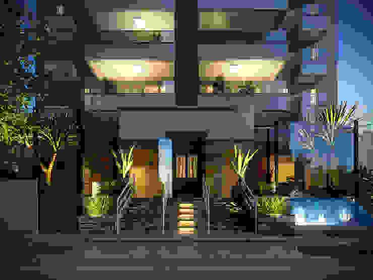Fachada do Condomínio Jardins modernos por Felipe Mascarenhas Paisagismo Moderno