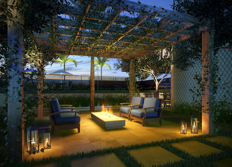 Lounge Salas de estar modernas por Felipe Mascarenhas Paisagismo Moderno