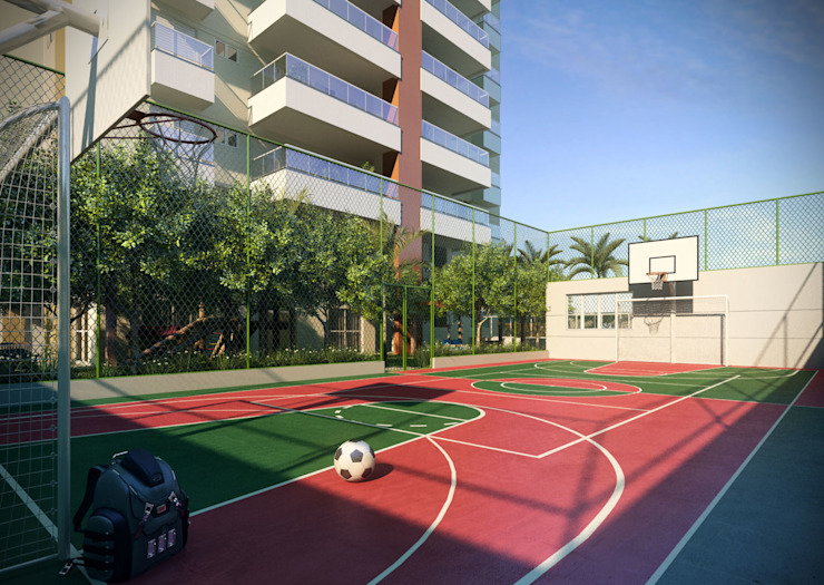 Modern gym by Felipe Mascarenhas Paisagismo Modern