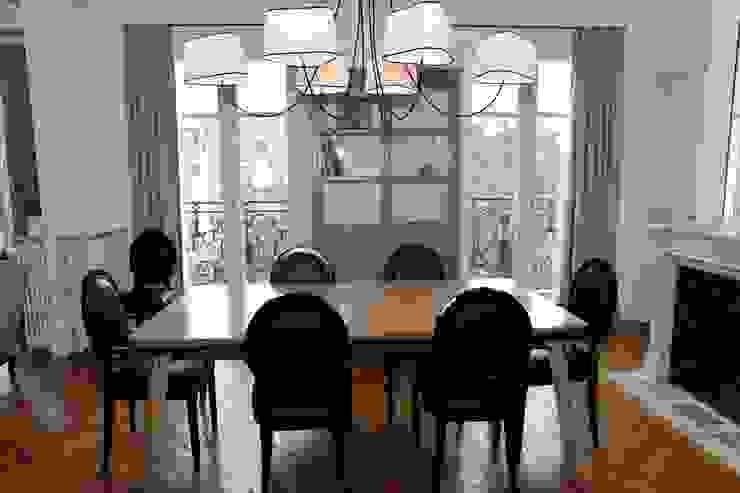 Contemporain et Haussmannien Salle à manger moderne par Agence Laurent Cayron Moderne