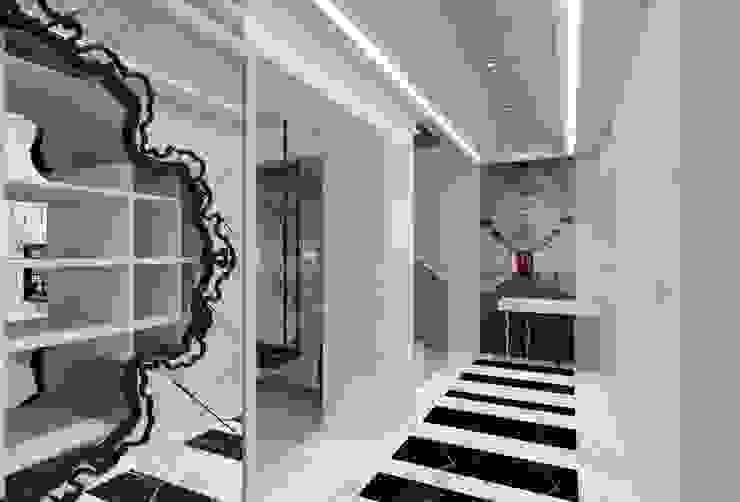 EVRIM & GUNAY ASLAN EVI Eklektik Koridor, Hol & Merdivenler Mimoza Mimarlık Eklektik