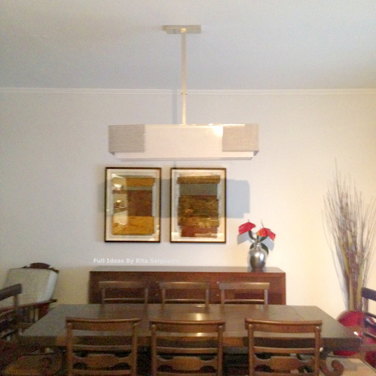 Zona de Jantar Salas de jantar ecléticas por Rita Salgueiro - Full Ideas Eclético