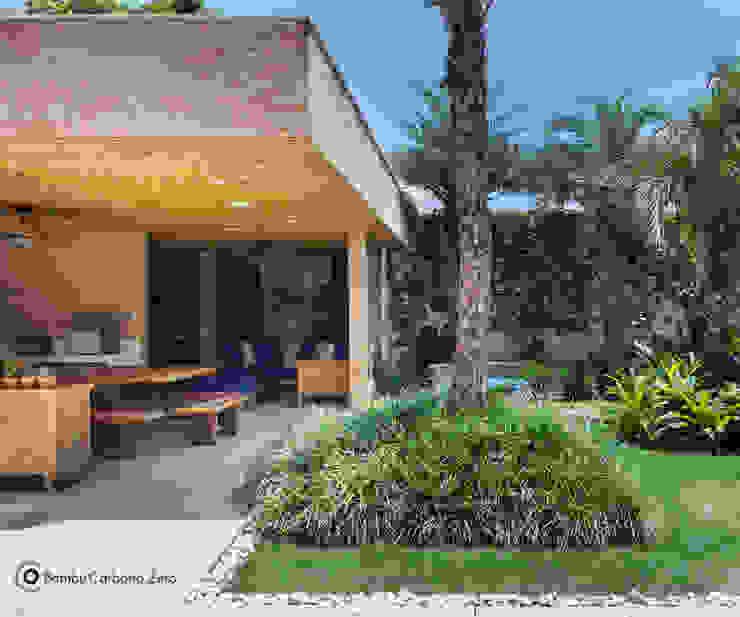 Jardines rústicos de BAMBU CARBONO ZERO Rústico Bambú Verde