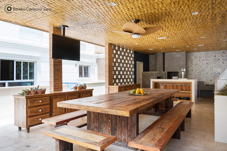 Cocinas de estilo  por BAMBU CARBONO ZERO