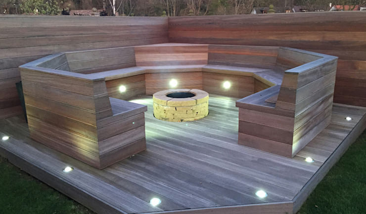 Ayrshire outdoor living Modern style gardens by Lithic Fire Modern Sandstone