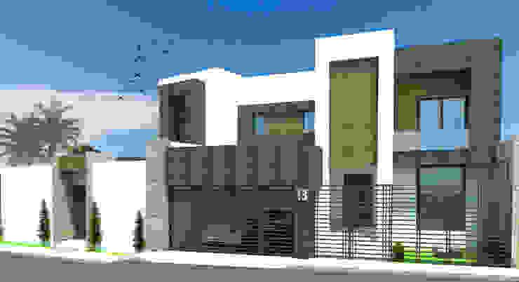 Дома в стиле модерн от Acrópolis Arquitectura Модерн Камень