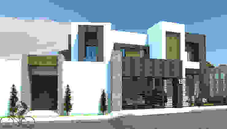 Casas modernas por Acrópolis Arquitectura Moderno Pedra