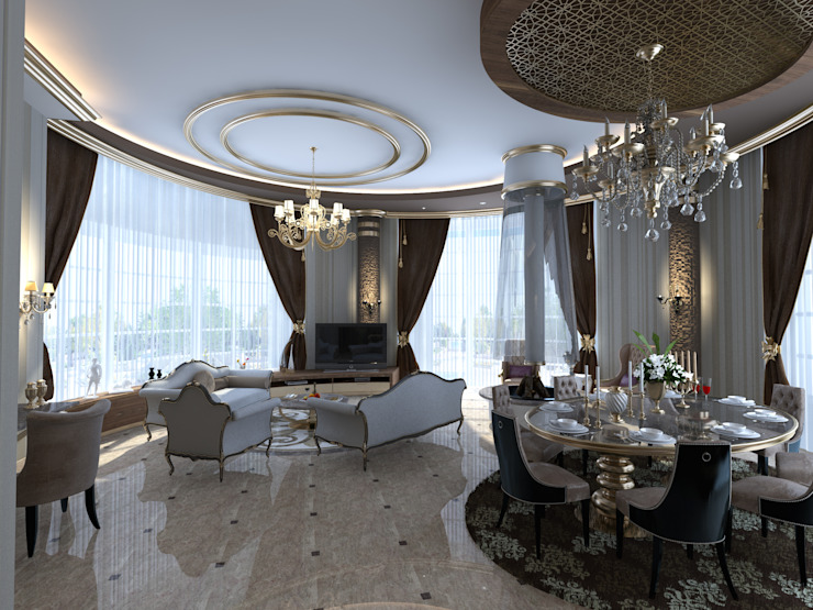 Classic style living room by Mimoza Mimarlık Classic