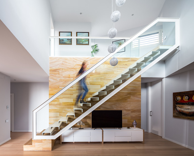 Casa E | 08023 architects Modern Corridor, Hallway and Staircase by Simon Garcia | arqfoto Modern
