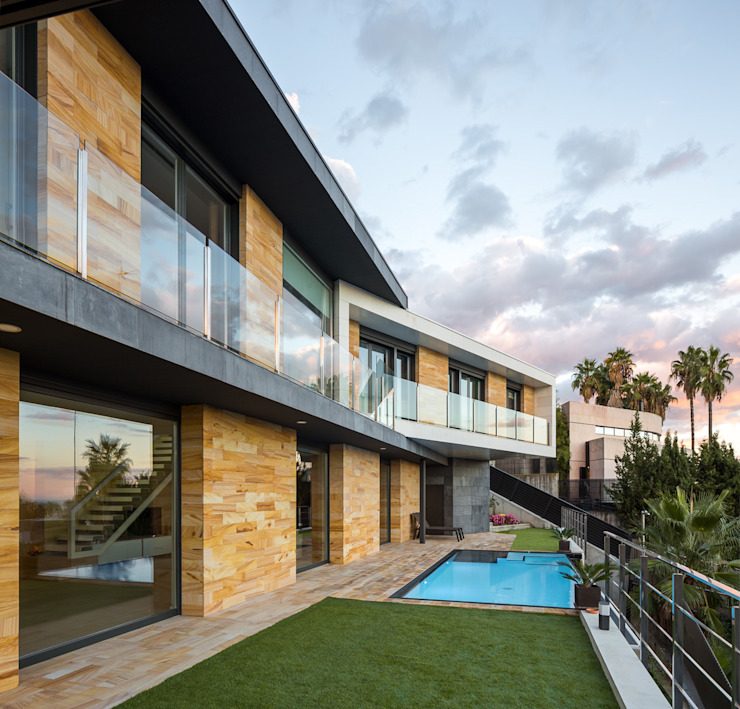 Casa E | 08023 architects Simon Garcia | arqfoto Jardines de estilo moderno