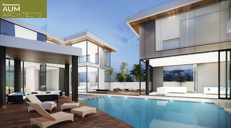 Modern pool by homify Modern Engineered Wood Transparent