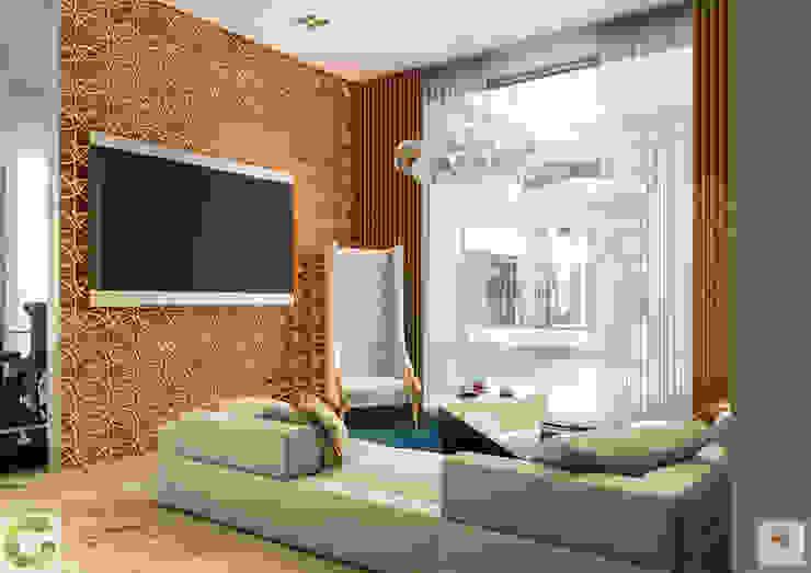 24000 sqft (2230 sqm) double Villa in Dubai:  Media room by Aum Architects