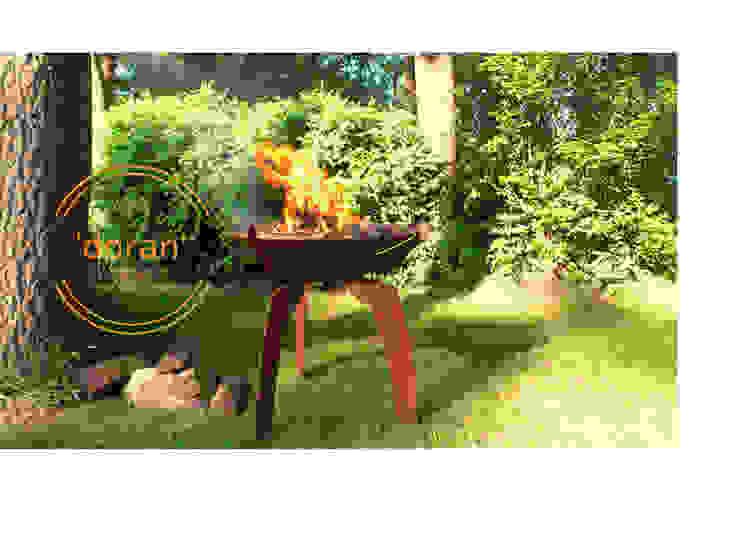 PRODUCTLAB vuurschaal - BBQ: modern  door PRODUCTLAB  we create, Modern IJzer / Staal